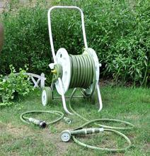 FOLDING packing Hose trolly with 30m PVC garden hose 1/2'' with water nozzle multifunction watering gun(China (Mainland))