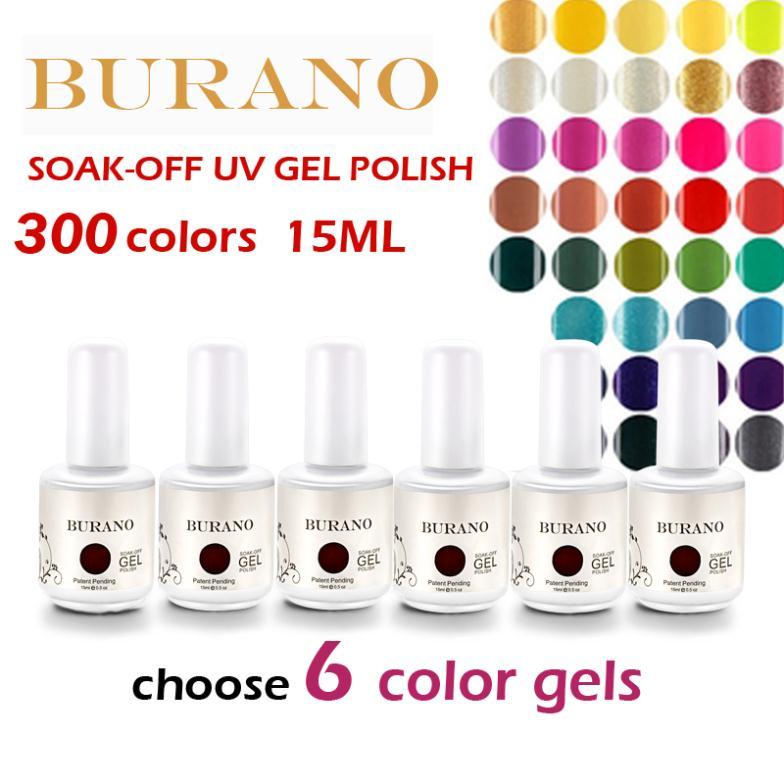 Choose 6pcs UV nail Soak Off Uv Gel Polish gel polish 15ml 0.5oz (300colors) nail kit 30 Days Long Lasting<br><br>Aliexpress