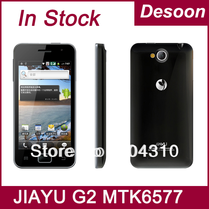 "In stock Free shipping Jiayu G2 phone MTK6577 1GB /4GB dual core android 4.0 GPS G2S 4.0"" multi-touch black white / Koccis(China (Mainland))"
