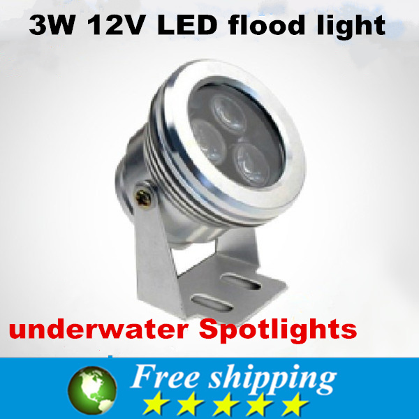 Hot sale new waterproof rating IP67 3W 12V LED flood light,underwater Spotlights cold/warm white,outdoor spotlights,X4(China (Mainland))