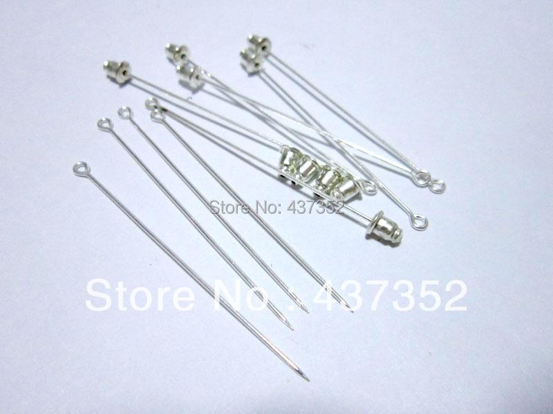Silver Plated 150pcs 60mm muslim hijab pins and backs brooches straight stick pin islamic scarf safety khaleeji pins<br><br>Aliexpress
