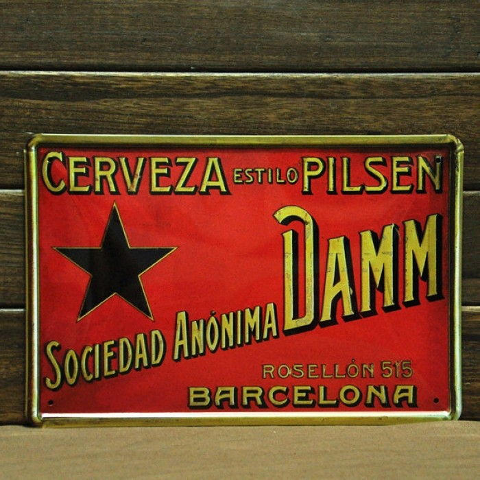 Wholesale Cerveza beer vintage tin signs retro metal signs decor the art wall of bar pub cafe club and restaurant 30cm*20cm(China (Mainland))