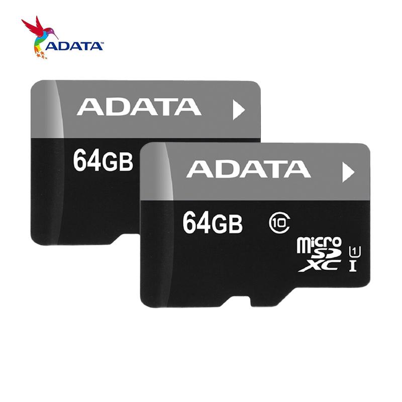 Гаджет  ADATA Memory Card 64GB 32GB 16GB C10 Micro SD Card TF Card SDHC SDXC UHS-I Class 10 Trans Flash Free Shipping 100% Original None Компьютер & сеть