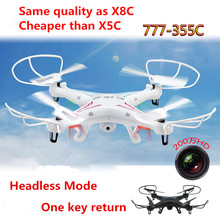 High quality Sky Phantom 2.4G 4CH 6 axis RC quadcopter 777-355C with Camera RC Drone with USB 777-355C VS than X5SC X8C M68 X5C