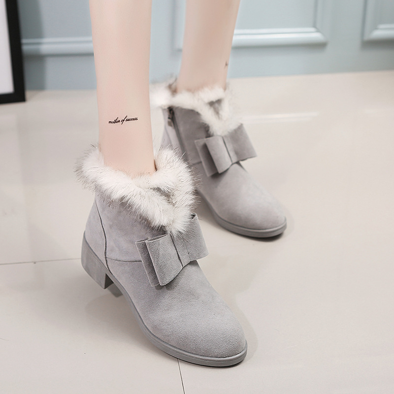 2016 New Arrivals Women Winter Boots Fashion Ladies Ankle Boots Sexy Boots Female Warm Plush Flats Brand Cheap Boots Shoes 915(China (Mainland))