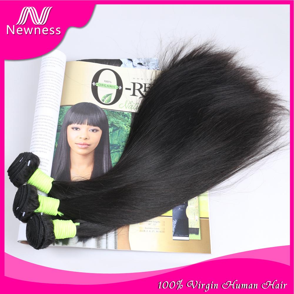 6a Brazilian virgin hair straight soft tangle free natural black unprocessed virgin brazilian hair cheap remy human hair weave(China (Mainland))