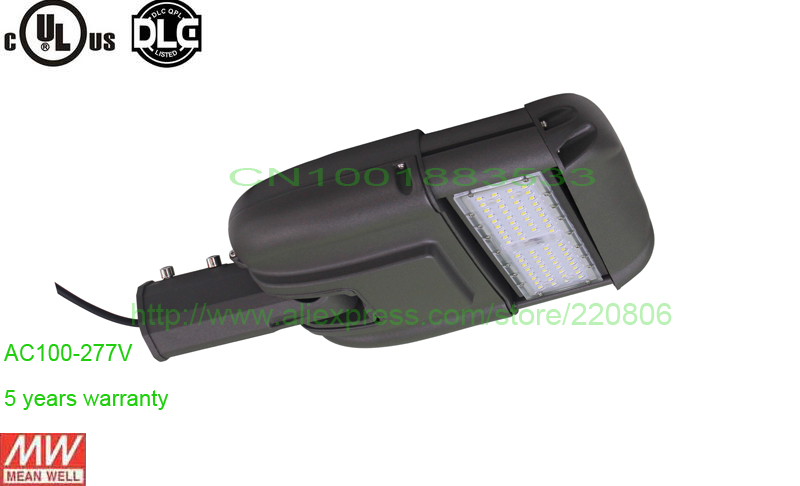 5 years UL DLC listed 110-277VAC 6900lm photocell sensor 60W led street light IP65 led road lamp outdoor garden landscape lamp(China (Mainland))