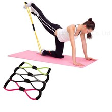Buy Resistance Training Bands Tube Workout Exercise Yoga 8 Type Body Building Fitness Equipment Tool for $1.47 in AliExpress store