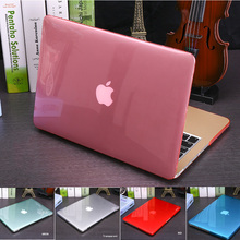 NEW Crystal Transparent case For Apple macbook Air Pro Retina 11 12 13 15 laptop bag for macbook Air 13 case cover Cutout Logo(China (Mainland))