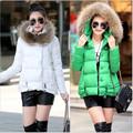 2016 New Winter Coat Women Jacket Thicken Fur Collar Hooded Women's Long Down Coat Fashion Brand Warm Cotton Jacket Parka A2023