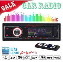 12V Great quality Car Radio FM MP3 player with USB slot supports Play MP3/WMA music Remote control(China (Mainland))