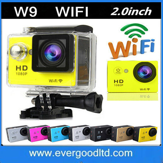 """New Go pro SJ6000 Style WIFI Camera W9 12MP CMOS Full HD 1080P 30FPS 2.0""""LCD Diving 30M Waterproof DV CAM(China (Mainland))"""