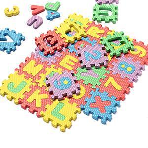 Kids Puzzle Toy Foam Mat Letter Numbers Puzzle Toy for Children Intelligence Development Bath Water Floating Toy 36pcs/set(China (Mainland))