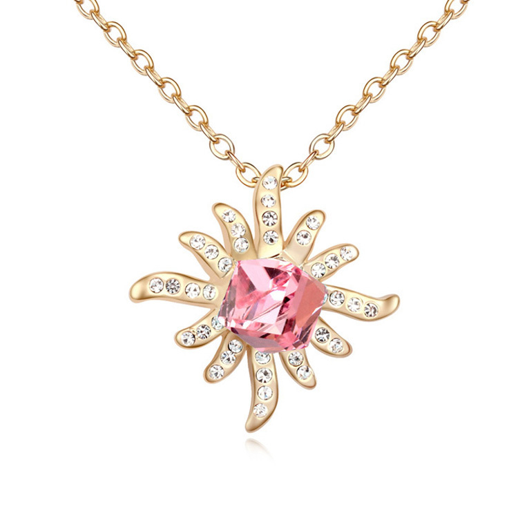 Kpop jewelry fashion exaggerated crystal starfish sweater chain necklaces made with Swarovski Elements women Jewelry(China (Mainland))