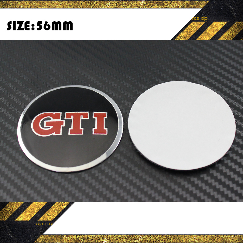 2015 100pcs Car VW Stickers Wheel Center Fits Volkswagen Hub GTI Cap Stickers 56mm BLACK red VW wheel center emblems car styling(China (Mainland))