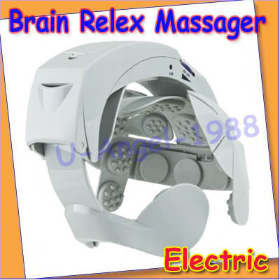Electric Head Massager Brain Massage Easy Relax Acupuncture Points Points NEW+Free shipping(China (Mainland))