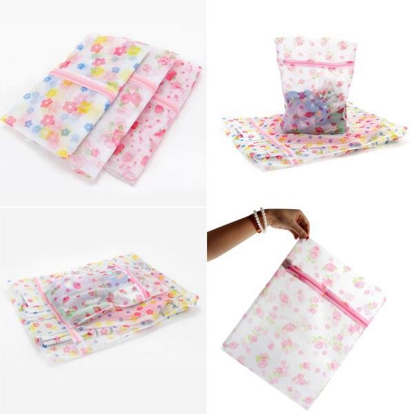 Best Underwear Bra Socks Laundry Washing Machine Net Mesh Bag Printed Basket 3 Sizes XM(China (Mainland))