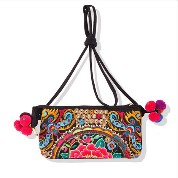 Women messenger bags Wholesale,Embroidery Cotton Facbic Women bag MB93007,National Embroidered crossbody bags(China (Mainland))