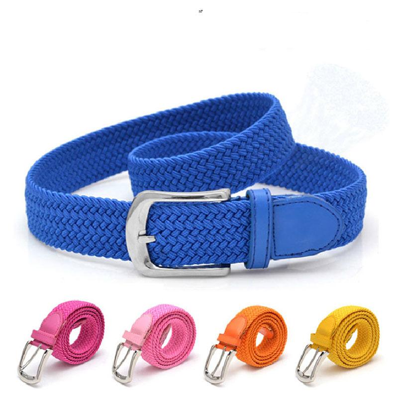 Free Shipping Elastic waist belt stretch woven canvas belt men elastic belt pin buckle belt Universal trouser pockets(China (Mainland))
