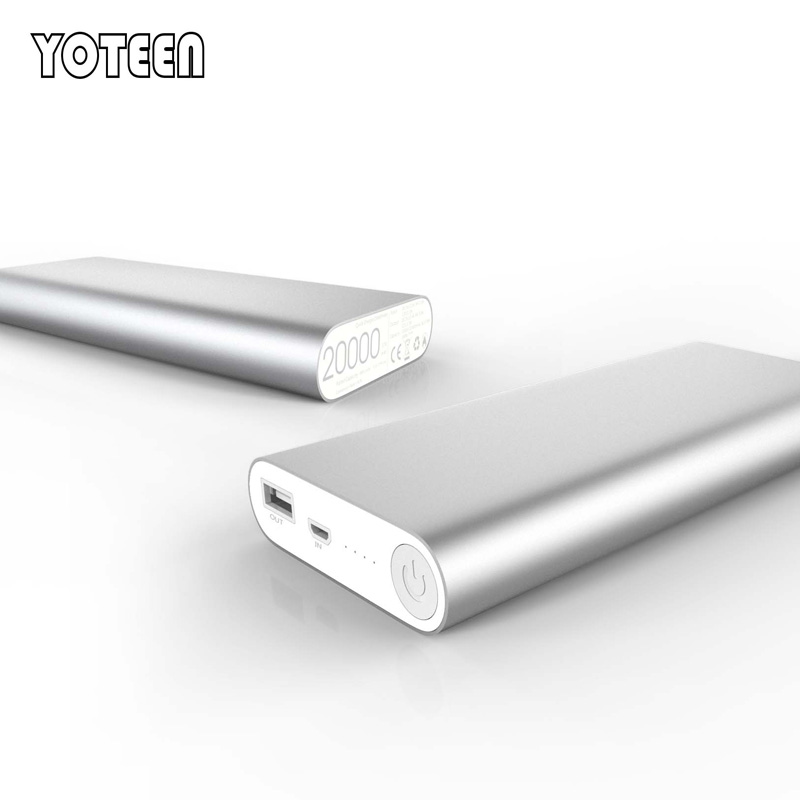 YOTEEN 20000mAh High Capacity QC2.0 Power Bank for iPhone Samsung HTC LG External Battery Pack Portable Quick Charger Powerbank(China (Mainland))