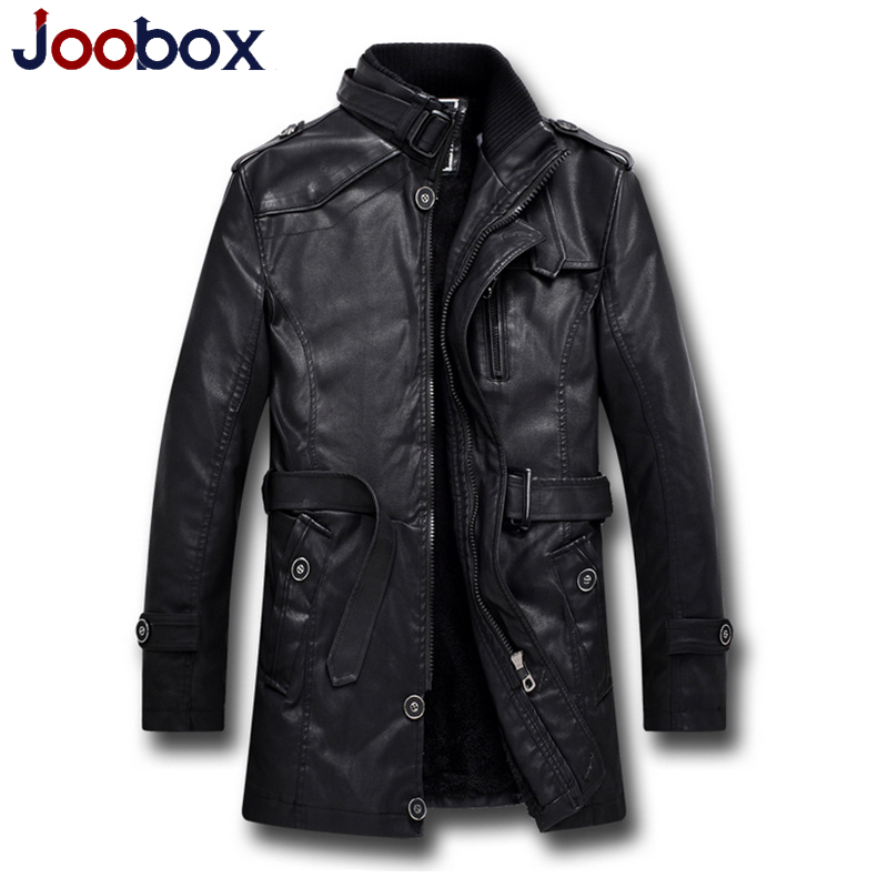 2016 new arrival black leather jacket men cashmere thick warm long pilot leather jacket wool liner pilot leather jacket (PY006)(China (Mainland))