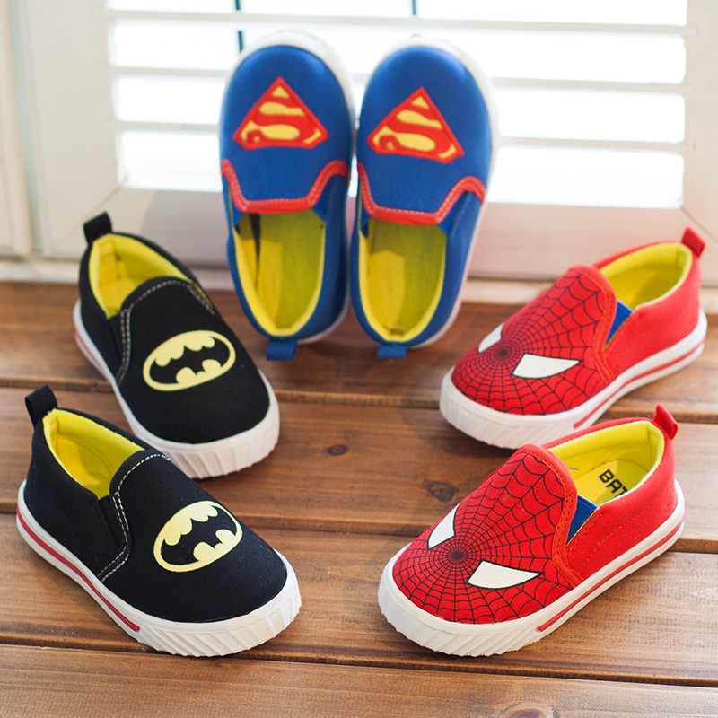 Size 21-35 childrens shoes for boys and girls ,classic (batman/superman/spiderman) kids sneakers fashion child casual shoes<br><br>Aliexpress