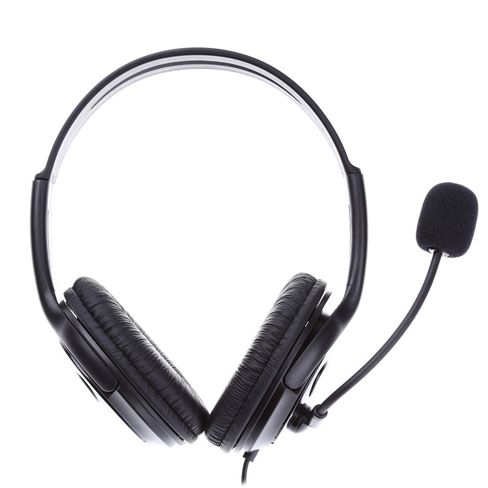 3.5mm Audio Jack Headband Headphone Wired Headset with Microphone for Sony PS4 PC Computer Vedio Game Voice Chat(China (Mainland))