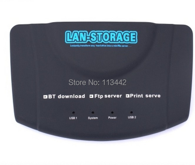 New RJ45 USB Networking Lan Storage Nas Ftp Samba Print Server BT CLIENT USB network server adapter free shipping(China (Mainland))