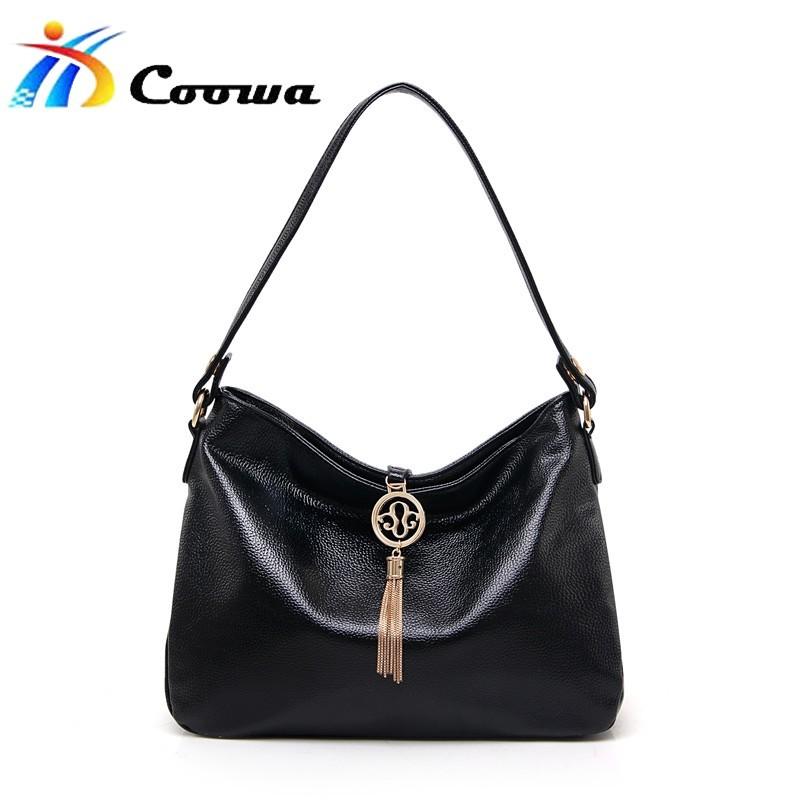 Coowa Soft pu Handbags Big Women Bag Zipper Ladies Shoulder Bag Girl Hobos Bags New Arrivals bolsa feminina free shipping(China (Mainland))