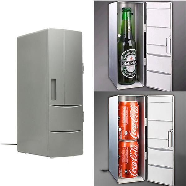 100% Brand Portable Mini USB PC Laptop Fridge Cooler Mini USB PC Refrigerator Warmer Cooler Beverage Drink Cans Freezer