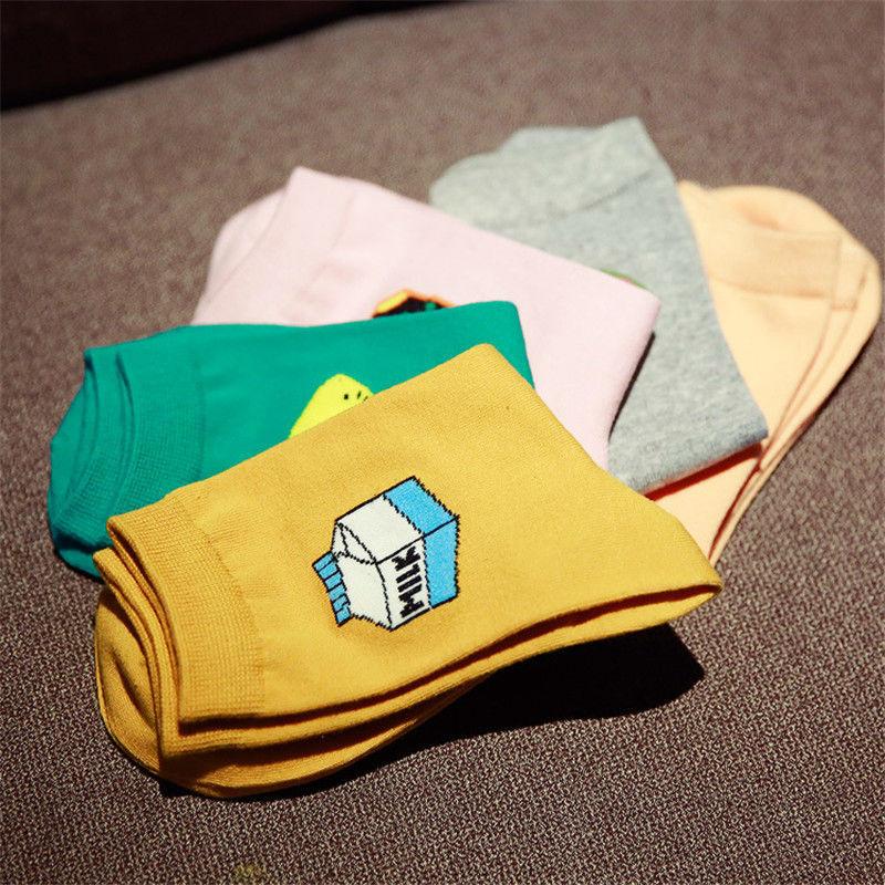 2015 New Fashion Korean Kawaii Long Socks Cute Women Milk Box Dog Sheep Egg Animal Art Sock Cheap Funny Colorful Cotton SocksОдежда и ак�е��уары<br><br><br>Aliexpress