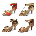 Brand New Women s Tango Ballroom Latin Dance Shoes salsa shoes 7cm heeled Hot Sales