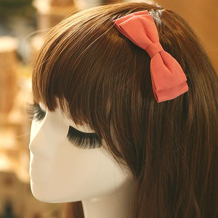 Denim Fabric Solid Colored Two Layers Bow Hair Clips Simple Color Bow Hairpin Girls Hair Accessories(China (Mainland))