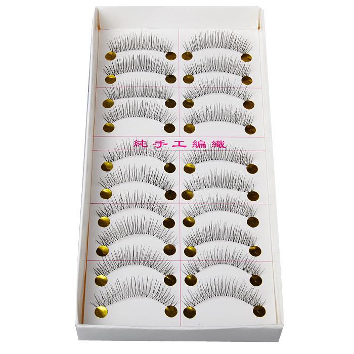 10 Pairs Makeup Handmade Natural Fashion False Eyelashes Soft Long Eye Lash Cosmetic(China (Mainland))