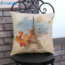 Buy Hot Top Eiffel Tower Printing Dyeing Sofa Bed Home Decor Pillow Case Cushion Cover Free Oct20 for $2.60 in AliExpress store