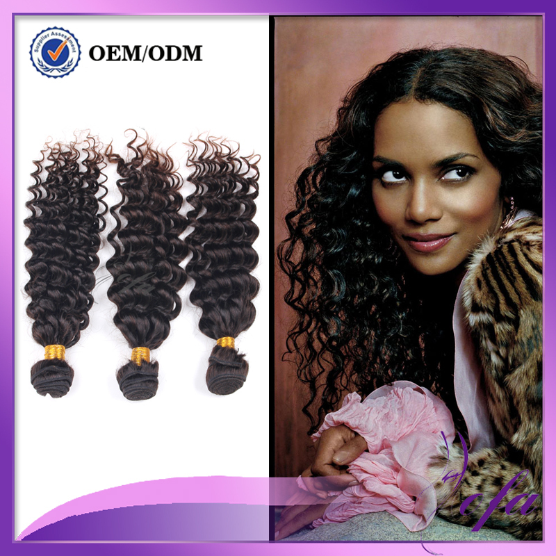inexpensive hair extensions brazilian deep wave 3 bundles human hair 30 32 34 inch brazilian celebrity hair extensions(China (Mainland))