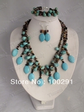 Factory direct sale//! Fashion jewelry stone  necklace  necklace bracelet earrings 222(China (Mainland))