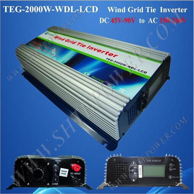 Sales Promotion DC 45-90V to AC 190-260V 2000W Wind Grid Tie Inverter(China (Mainland))