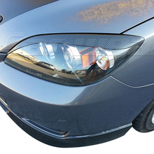 Buy Mazda 3 Hatchback Carbon Fiber Car Headlight Eyebrow Eyelid Cover Trim 2006-2013 for $36.40 in AliExpress store