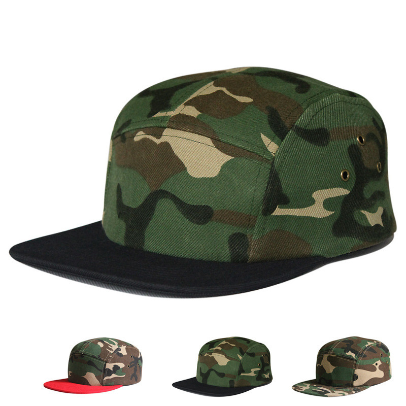 Hot Sale Camouflage 5 Panel Snapback Hats classic mens and women designer snapbacks caps good quality bboy sports hat casquette(China (Mainland))
