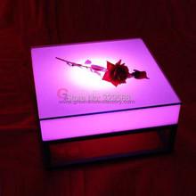 Аккумуляторная пластиковые из светодиодов освещение современной площади стол водонепроницаемый и RGB изменение цвета