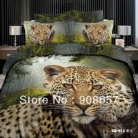 animal leopard printing Egyptian cotton bed sets Queen full bedding duvet quilt covers cotton bed linens discount home textile