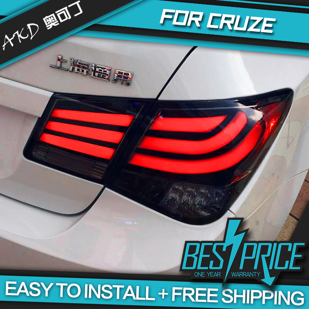 AKD Car Styling for CRUZE LED TAIL Lights LED Tail Light LED Rear Lamp DRL+Brake+Reversing+Signal Automobile Accessories(China (Mainland))