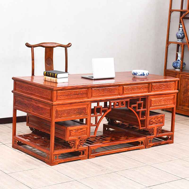 table Chinese antique wood desk bookcase computer executive elm Painting(China (Mainland))