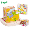 Baby toys for children Wooden Cube Block 9 pc gift for kids brinquedos
