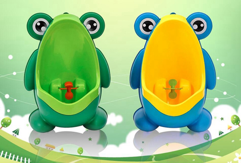 Cute Frog Baby Potty Toilet Urinals Boy Assento Sanitario Infantil Children Potty Toilet Training Kids Urinal Plastic Trainers (3)
