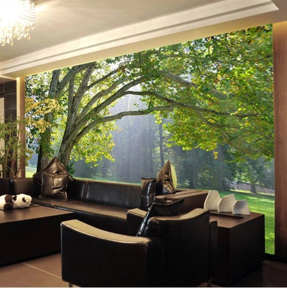 Wallpaper tv picture more detailed picture about custom for 3d mural wallpaper