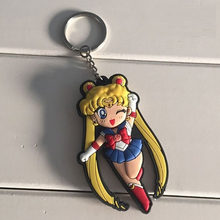 2018 nova moda Brinquedos Clássico Anime Sailor Moon Usagi Tsukino Marte Júpiter Mercúrio Borracha Macia Boneca Figura Keychain(China)