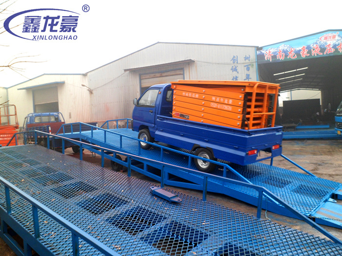 6T hydraulic mobile aluminum loading ramp for sale(China (Mainland))