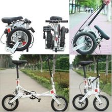2015 New 12 folding bike Mini Folding Bicycle A bike Folding Portable Bike Good Gift for You Environmental Green Bike(Hong Kong)